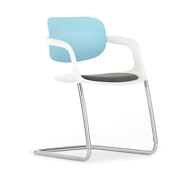A781 Soul Non Stacking Chair With Upholstered Seat And Plastic Back