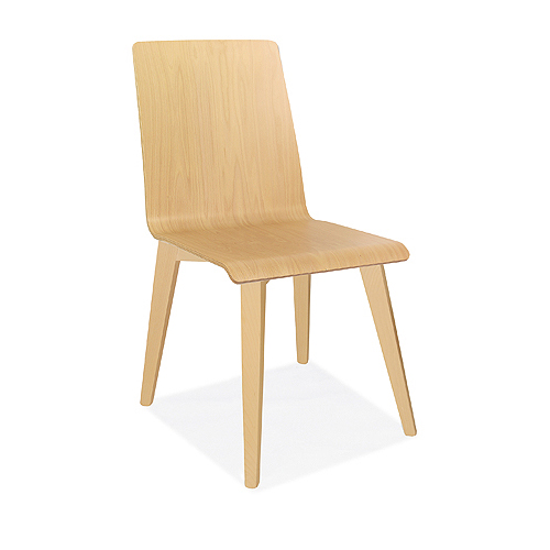 BJN13 Bjorn Chair With Wooden Seat And Back With Wooden (Beech) 4 Leg Frame