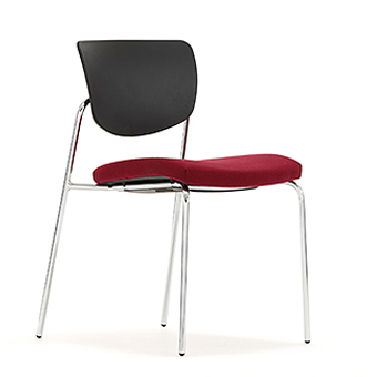C505 Contour Chair With Upholstered Seat And Plastic Back Without Arms  sc 1 st  DBI Furniture Solutions & C505 Contour Chair With Upholstered Seat And Plastic Back Without ...