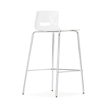 Cs5bs Casper Bar Stool With Plastic Seat And Back Without