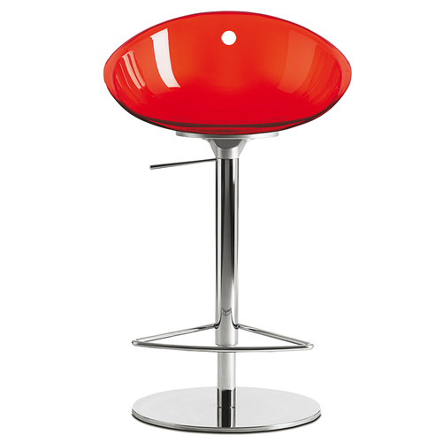 970 Gliss Swivel Bar Stool With Polycarbonate Shell And