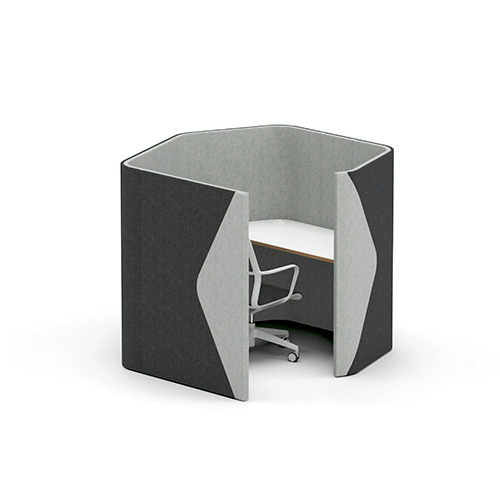 Grey office pod
