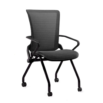 LIIN BB LAM Lii 4 Leg Chair With Mesh Seat And Back And Black Frame And  Castors