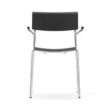 LP2A Lip Chair With Square Seat And Cantilever Arms
