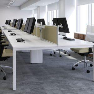 Hot desking with bench desks