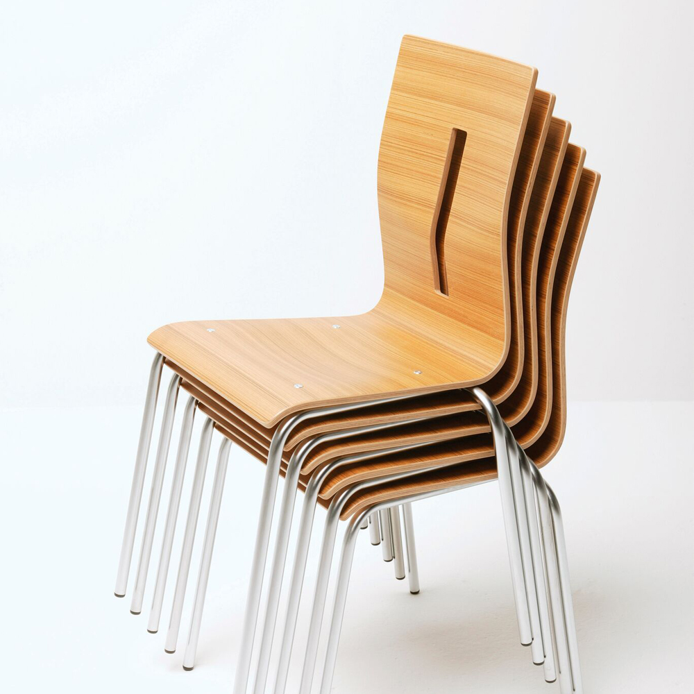 Beech stackable chair