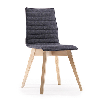 BJN23 Bjorn Chair With Upholstered Seat And Back With Wooden (Beech) 4 Leg  Frame