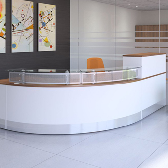 RECEPTION FURNITURE AND COUNTERS