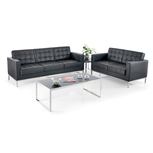 510 3 Psi Classico Three Seat Reception Sofa With Chrome Legs Dbi