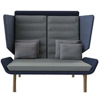 ADEN-02-HB Aden 2 Seater High Back Sofa