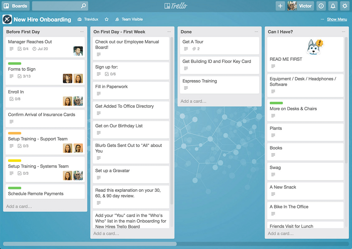 Screenshot of the Trello desktop app